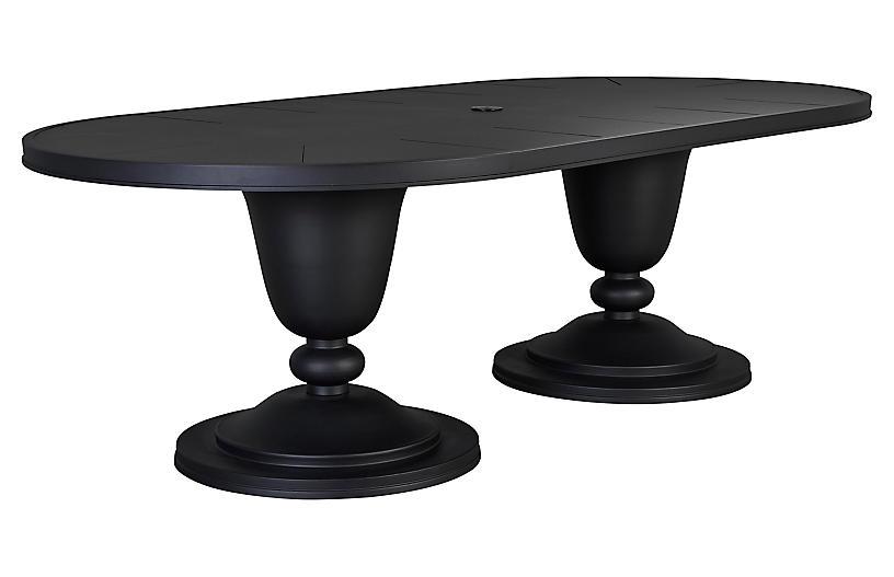 Winterthur Estate Oval Dining Table, Black
