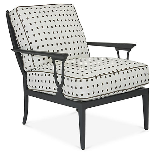 Winterthur Estate Lounge Chair, Gray/White