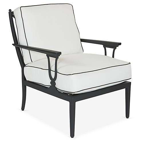 Winterthur Estate Lounge Chair, Black/White