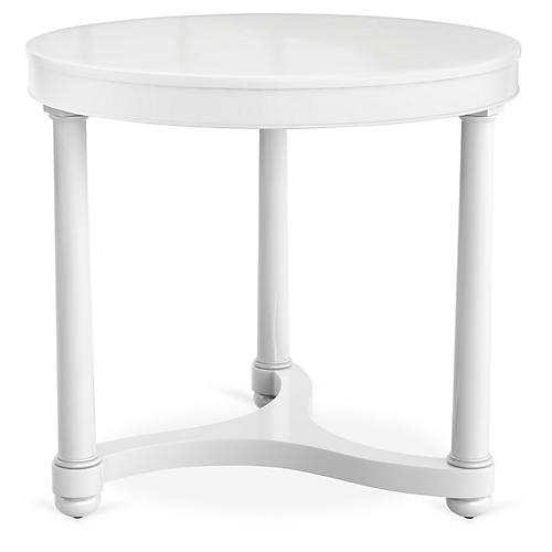 Gwendolen Lacquer Side Table, White