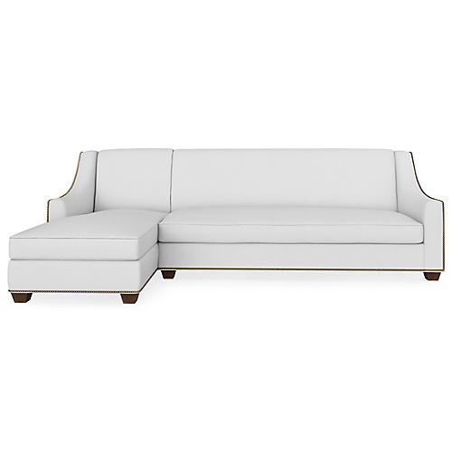 Pembroke Left-Facing Sectional, Pearl