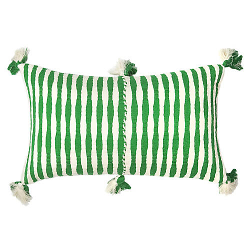 Antigua 12x20 Lumbar Pillow, Grass Stripe