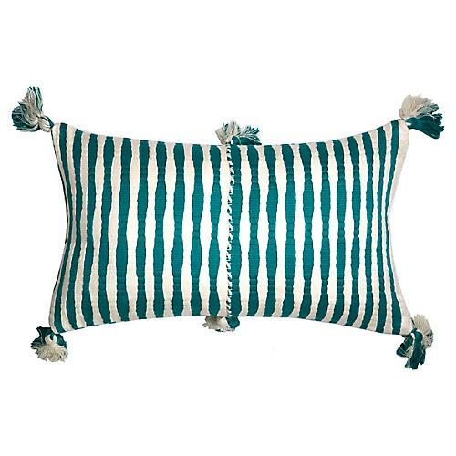 Antigua 12x20 Lumbar Pillow, Jade Stripe