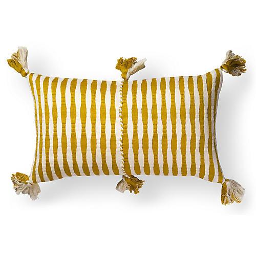 Antigua 12x20 Lumbar Pillow, Ochre Stripe