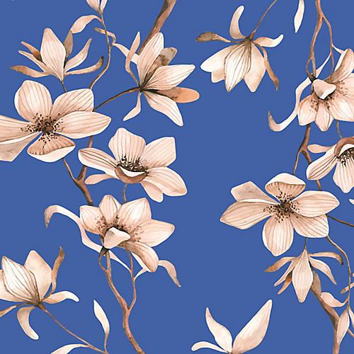 Removable Dawn Blossoms Wallpaper, Blue