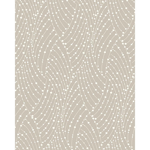 Removable Ravel Wallpaper, Taupe