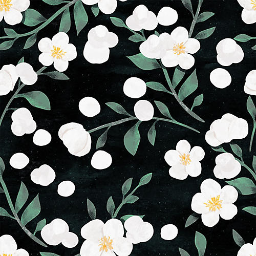 Removable Black Forest Wallpaper, Black
