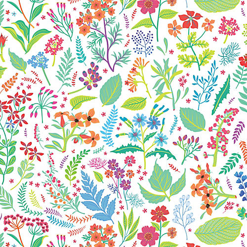 Removable Spring Pastures Wallpaper, Navy
