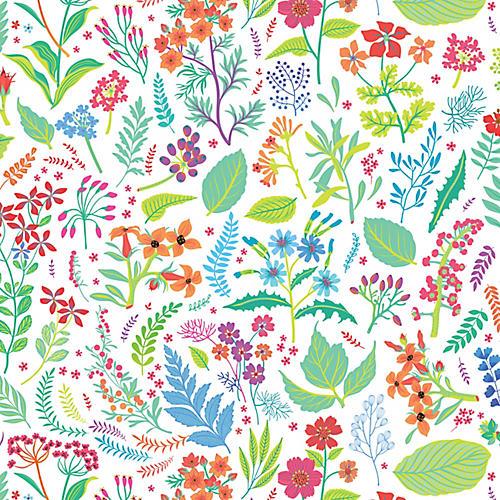Spring Pastures Wallpaper, Navy