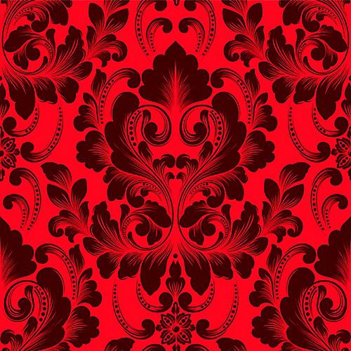 Victorian Crimson Wallpaper, Red
