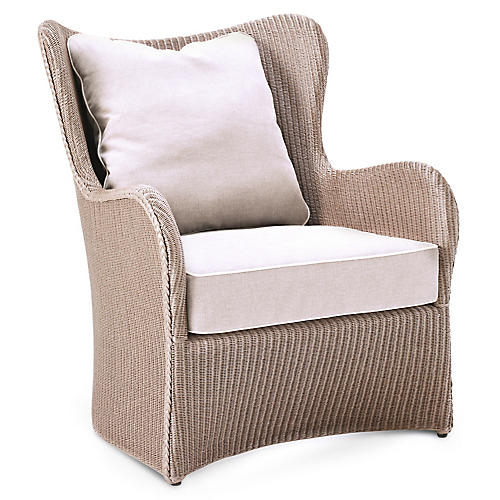 Butterfly Lounge Chair, Tan Nacre/White