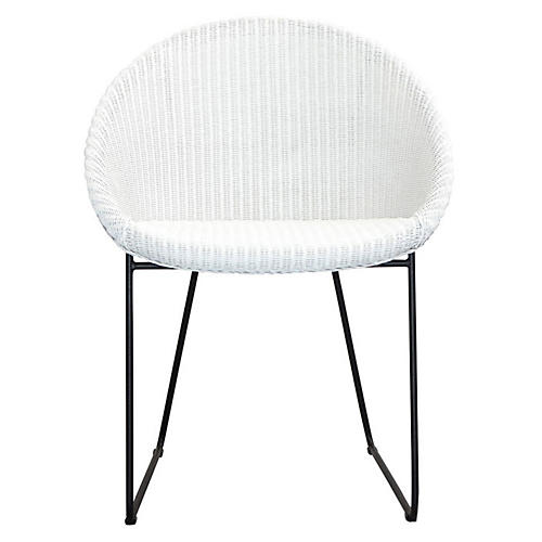 Joe Armchair, White/Black