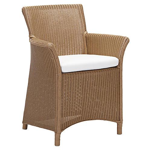 St. Tropez Armchair, Natural/White