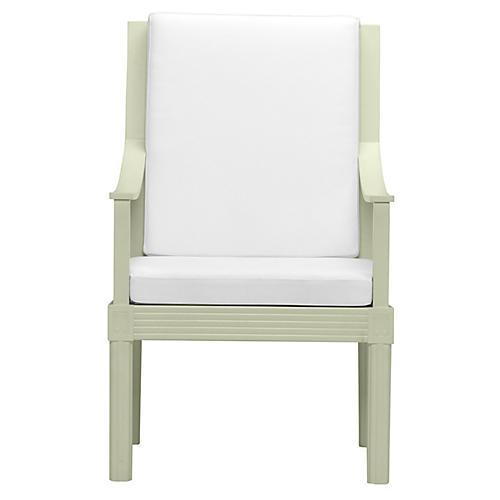 Quadratl Armchair, Green/White