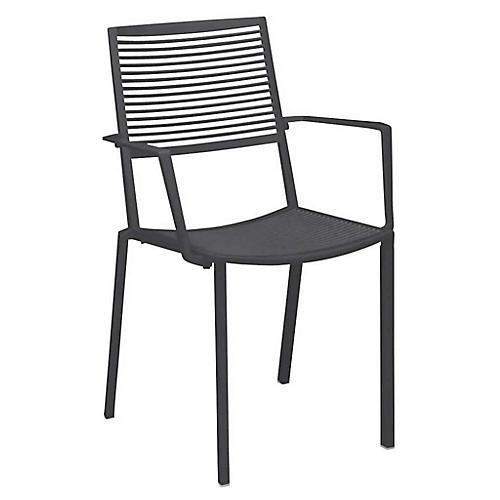 Easy Armchair, Metallic Gray