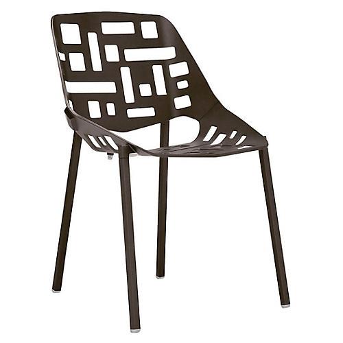 Twin Side Chair, Espresso