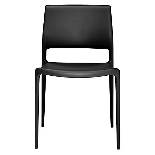 Lure Side Chair, Black