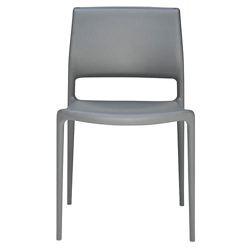 Lure Side Chair, Dark Gray