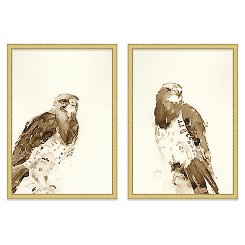 Mary H. Case, Hawks Diptych
