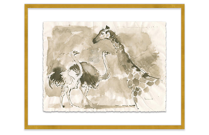 Mary H. Case, Giraffe & Ostrich