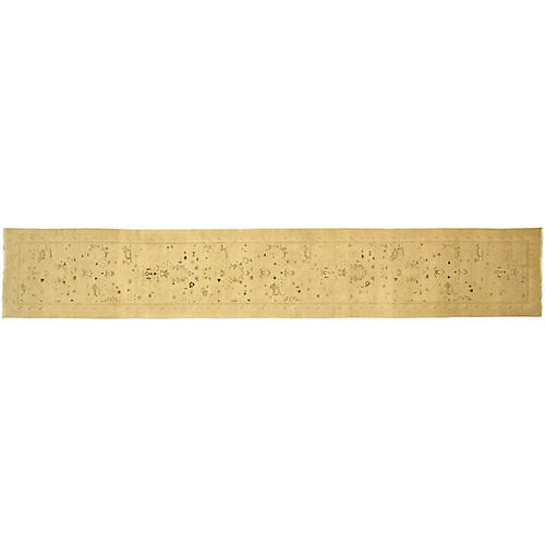 """2'10""""x17'6"""" Egyptian Sultanabad Rug, Gold"""