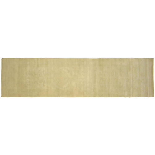 """2'6""""x11' Egyptian Sultanabad Rug, Beige/Green"""