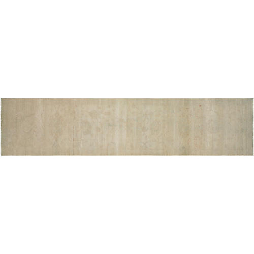 """2'5""""x13'5"""" Egyptian Sultanabad Rug, Ivory"""