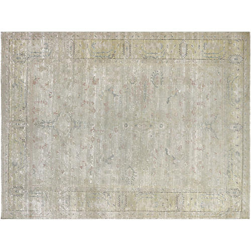 "7'9""x10'4"" Egyptian Sultanabad Rug, Taupe/Green"