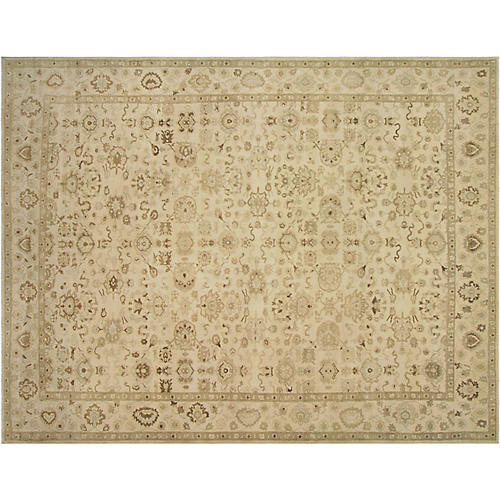 """11'10""""x15'9"""" Egyptian Sultanabad Rug, Taupe"""
