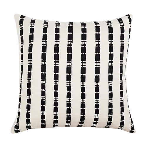Santiago 18x18 Pillow, Black/White