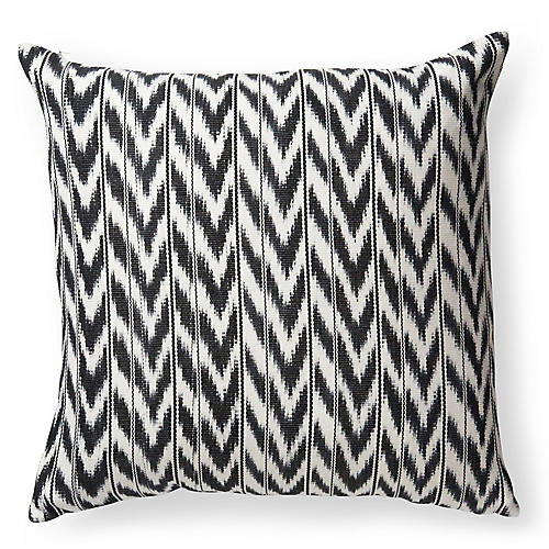 Toto 18x18 Pillow, Black/White
