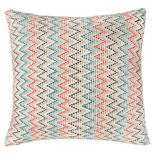 Nahuala 16x16 Zigzag Pillow, Sand
