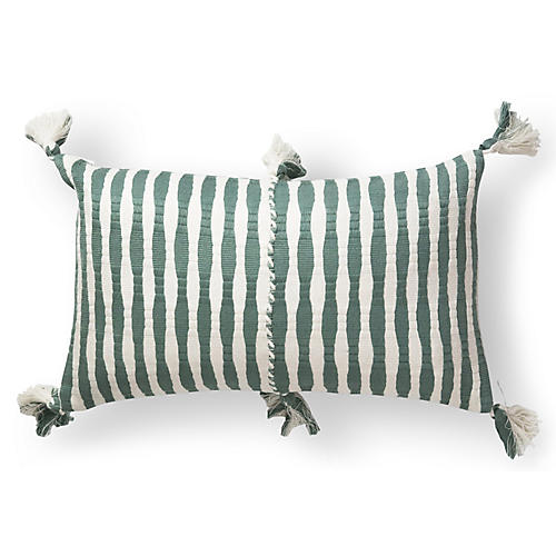 Antigua 12x20 Lumbar Pillow, Dusty Green