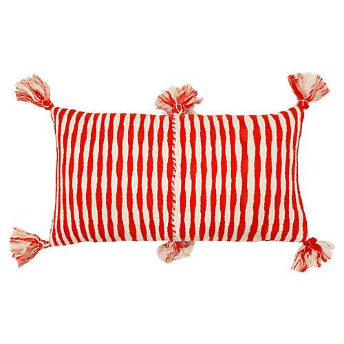 Antigua 12x20 Lumbar Pillow, Red