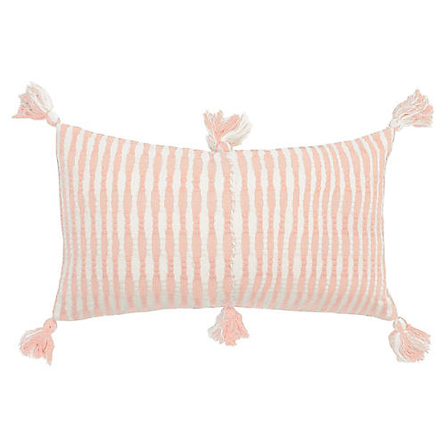 Antigua 12x20 Lumbar Pillow, Peach
