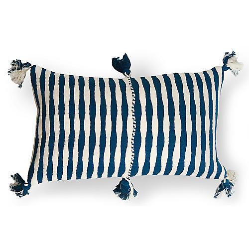 Antigua 12x20 Lumbar Pillow, Dark Navy