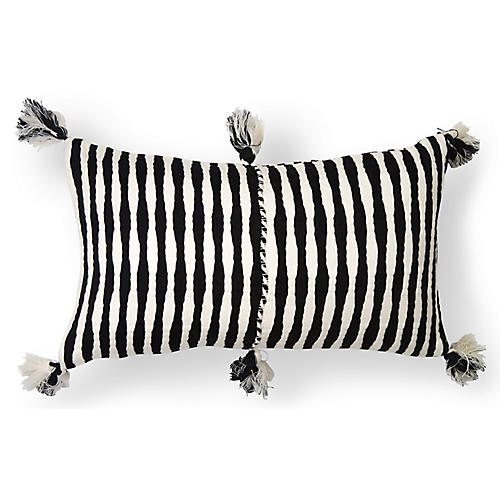 Antigua 12x20 Lumbar Pillow, Black