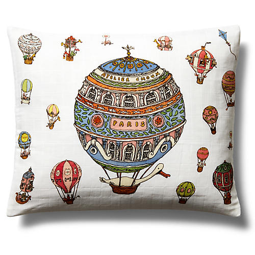 Up! Pillow, White/Multi