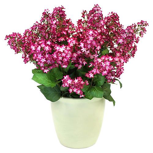 """21"""" Floral Bush Arrangement w/ Vessel, Faux"""
