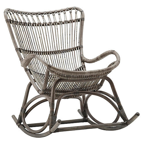 Monet Rocking Chair, Taupe Gray