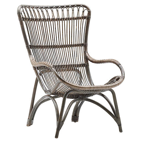 Monet Lounge Chair, Taupe Gray