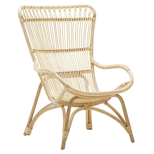 Monet Lounge Chair, Natural