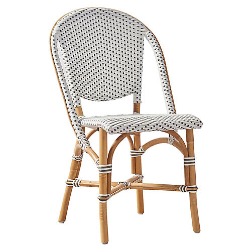 Sofie Bistro Side Chair, White/Cappuccino