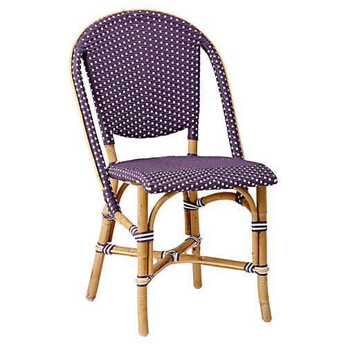 Sofie Bistro Side Chair, Plum/White