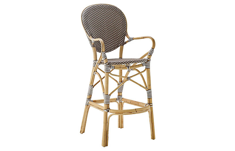 Isabell Rattan Barstool, Cappuccino