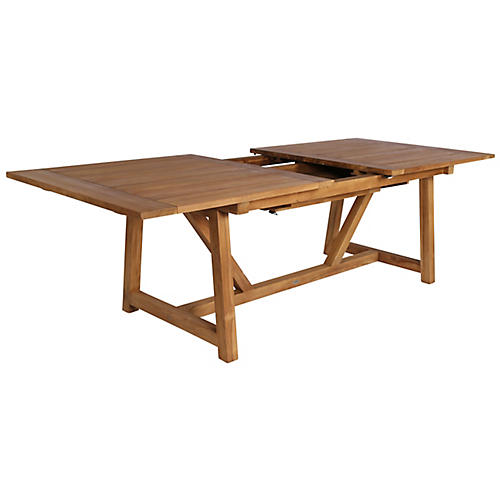 George Ext. Dining Table, Natural