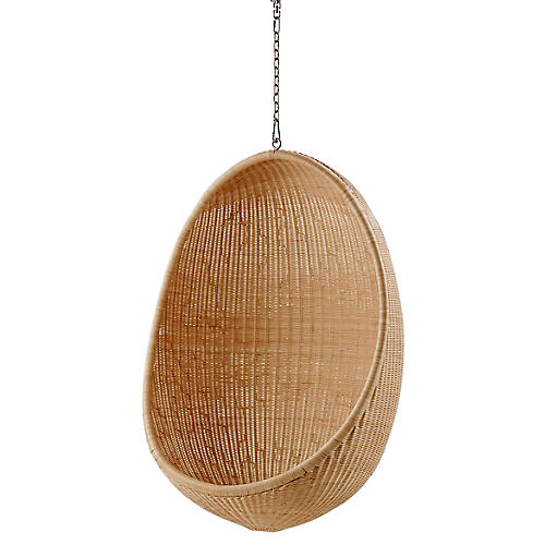 Hanging Egg Chair, Natural