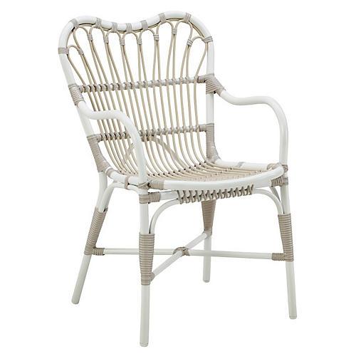Margret Outdoor Armchair, Dove White