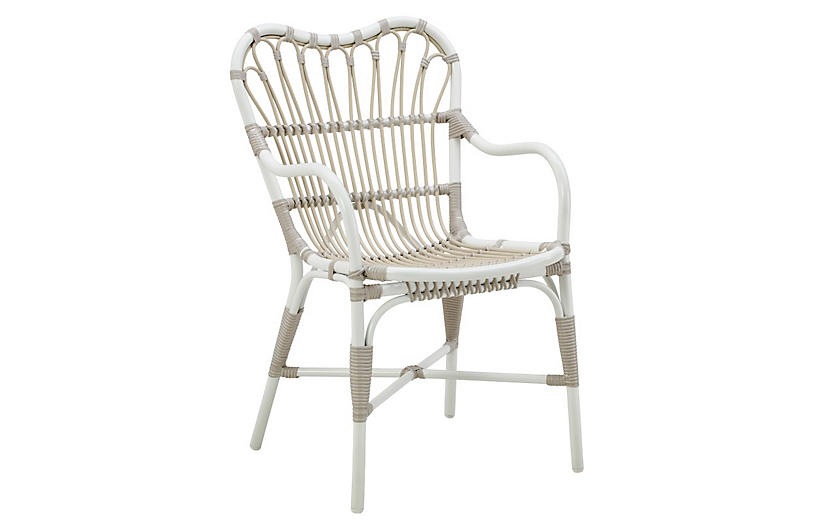 Margret Outdoor Armchair, Dove White