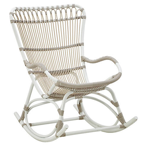 Monet Outdoor Rocking Chair, Dove White